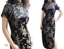 black chinese dress