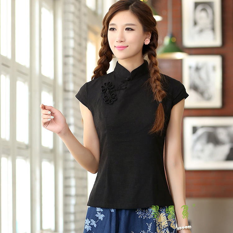 black mandarin collar