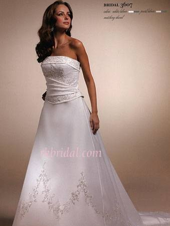 Mori Lee 2 Piece Wedding Dress 3607