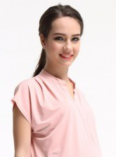 pink mandarin colour top
